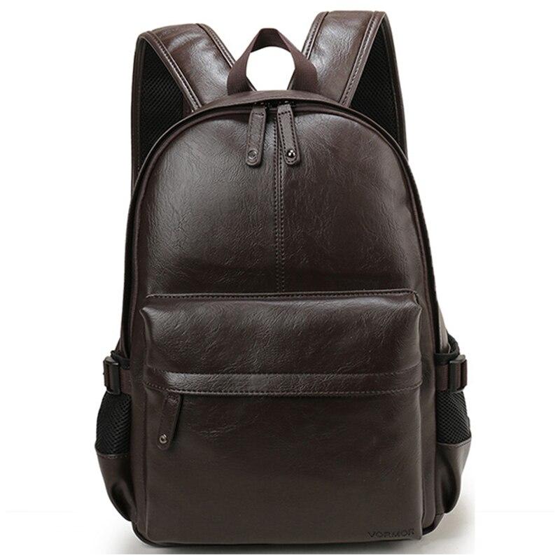 Мужской кожаный рюкзак, школьный рюкзак, модная Водонепроницаемая дорожная сумка, Повседневная кожаная сумка для книг, мужской рюкзак