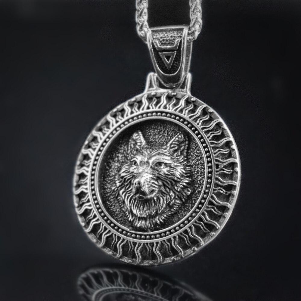 EYHIMD нордический Черный солнцезащитный Велес волк из нержавеющей стали кулон Руна викингов талисман славянский скандинавский амулет ювелирные изделия