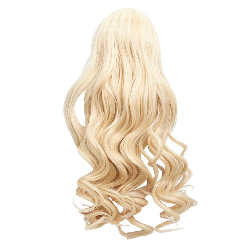 18inch Girl Doll Hair, Heat Resistant Long Wavy Replacement Wigs for American Dolls DIY Making Supplies