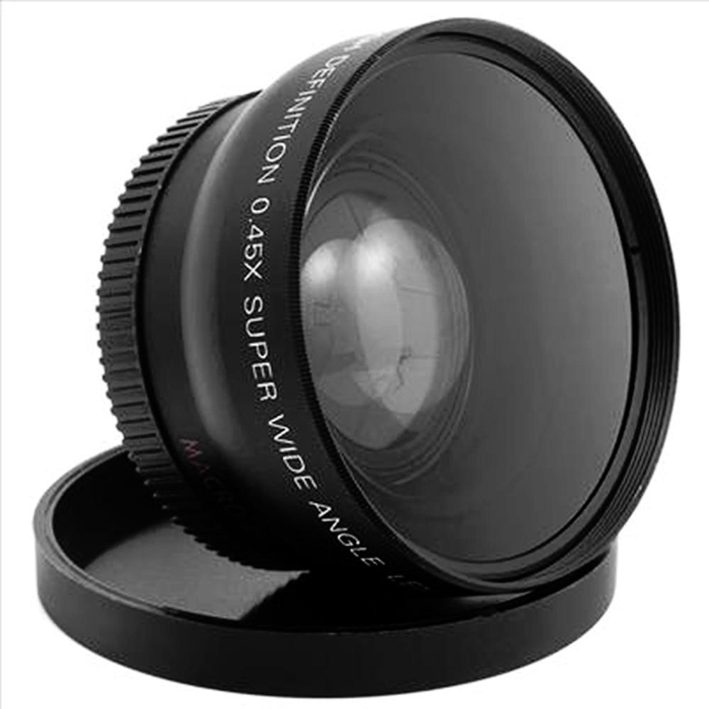 Professional 52MM 0.45 x Wide Angle Macro Lens for Nikon D3200 D3100 D5200 D5100 Black Super Wide Angle