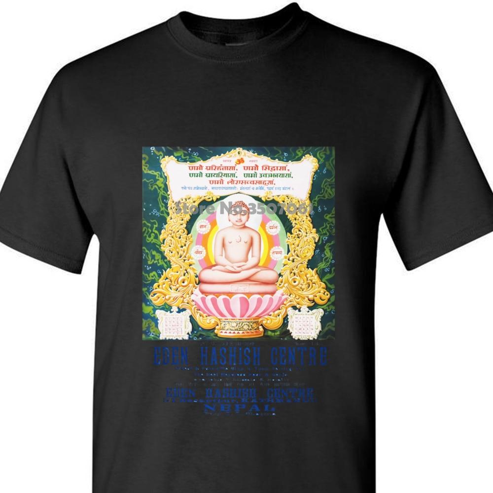 Camiseta Boardrippaz Edén hachish Centre Nepal Katmandú Haschisch Buddha Shiva camiseta mujer impresa abrigo ropa tops