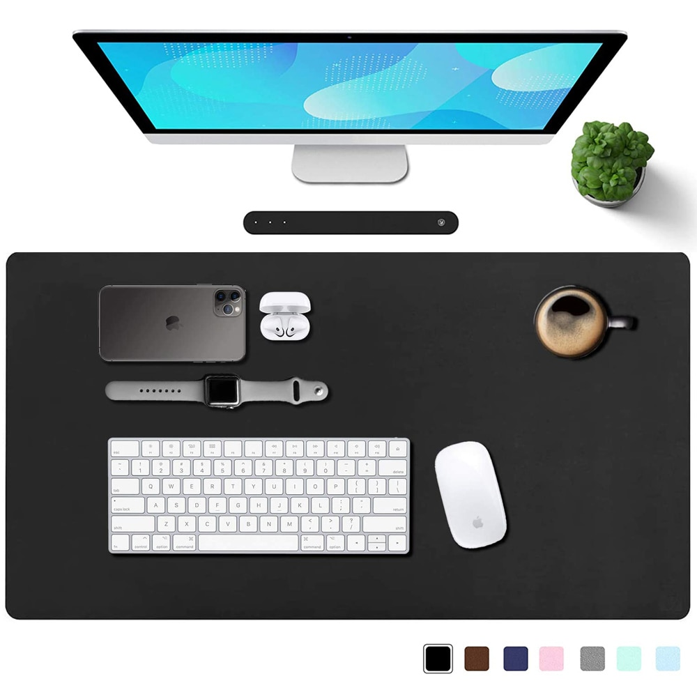 Large Gaming Mouse Pad Gamer Waterproof PU Leather Suede Desk Mat Computer Mousepad Keyboard Table Protector for Game Office