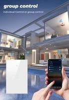 TUYA WiFi 433MHZ intelligent 1 2 3 4 Gang interrupteur tactile Standard blanc cristal verre panneau lumineux interrupteur pour Alexa Google accueil Assistant