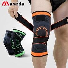 MASEDA A Pair Kneecap Wrap Around the Knee Pads knitted kneepad  Basketball Sports Safety Sportswear