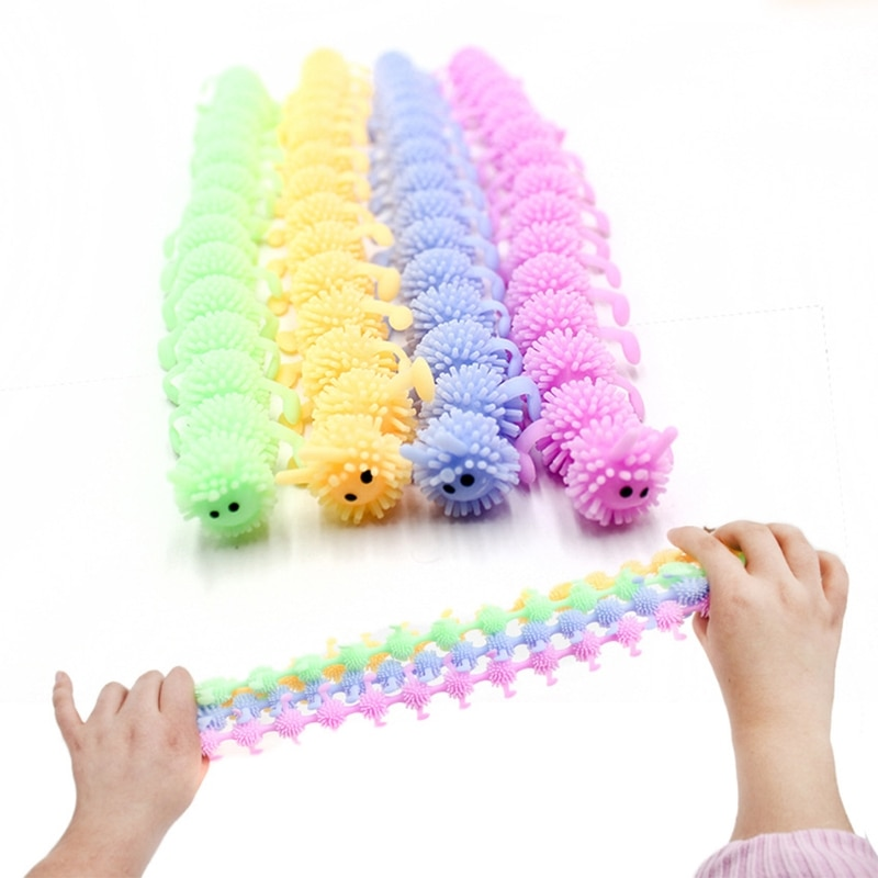 16-section caterpillar vents and squeezes, relaxes the mood, a stress-relieving toy suitable for children over 3 years old enlarge
