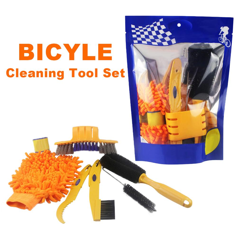 Bicycle cleaing Tool kits Chain Cleaner+tire Brushes+Bike Cleaning gloves MTB Bike Cleaning Gloves Chain Tool Cleaners Sets