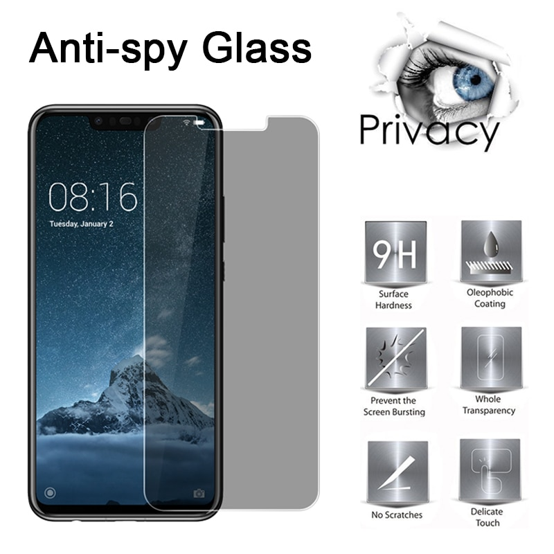 Templado de vidrio para Huawei Honor 8 Lite Pro 9 10 Lite magia de Protector de pantalla de privacidad para Huawei Honor 20 Lite Pro 10i 20i 9H