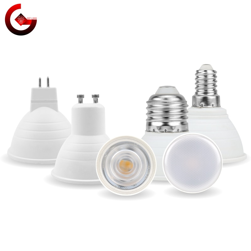MR16 GU10 E27 E14 Lampada LED Bulb 6W 220V Bombillas LED Lamp Spotlight Lampara LED Spot Light 24/12