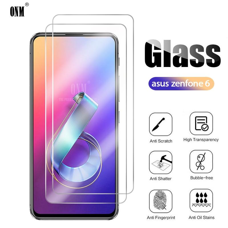 2 uds vidrio templado para ASUS ZENFONE 6 ZS630KL Protector de pantalla...