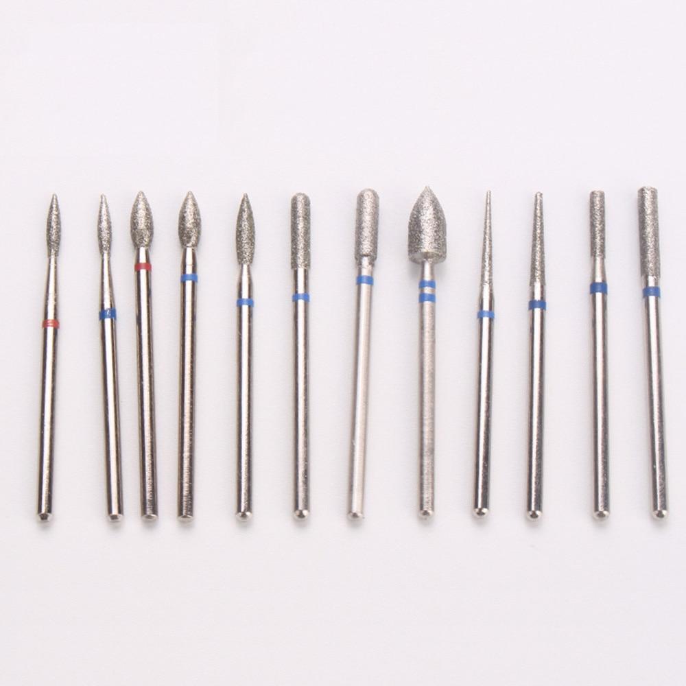 Купить с кэшбэком 1pcs Emery Metal Steel Nail Grinding Head Milling Manicure Cutter 20type Pedicure Machine Sander Drill Bits Electric Tools TH04