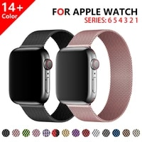 magnetic buckle strap for apple watch 6 5 4 3 2 38mm 42mm stainless steel loop band for iwatch series 44mm 40mm