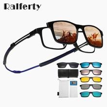 Ralferty Magnetic Reading Glasses Women Men Anti Blue Light Unisex Optical Prescription Sunglasses A