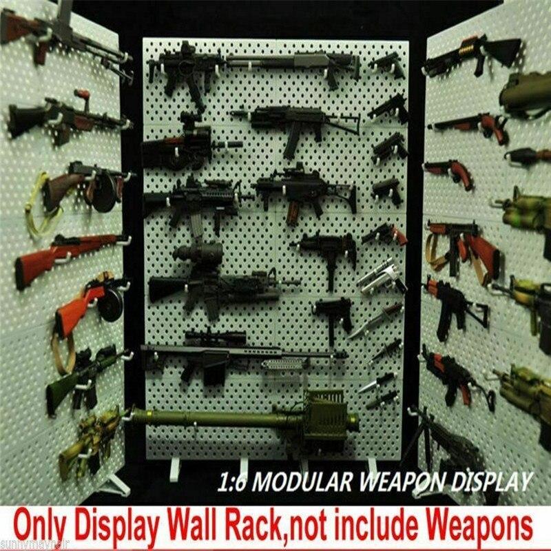 Exhibidor de armas a escala 16, estante Modular para armas, armas no incluidas, juguetes de 12 pulgadas F