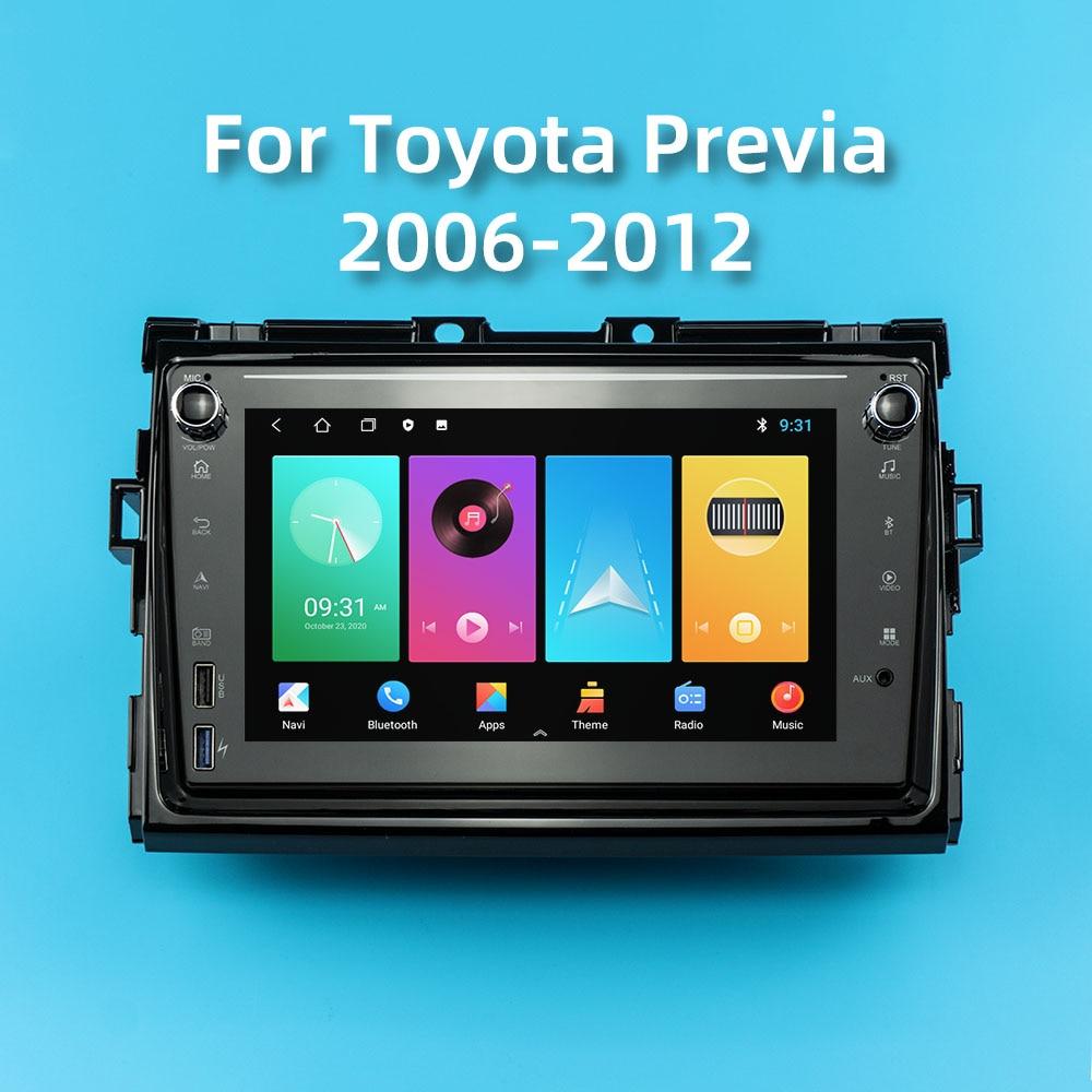 Фото - Автомагнитола на Android для Toyota Previa 2006-2012, мультимедийный проигрыватель 2 Din со стереоприемником, FM-радио, GPS-навигацией, головное устройство дл... автомагнитола 2 din мультимедийный видеоплейер с gps навигацией bluetooth carplay dvd для toyota venza 128 2008 6g 2016g
