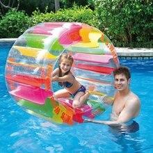 Arc-en-ciel natation anneau coloré gonflable roue à eau rouleau piscine flotteur partie plage balle eau amusant jouet pour les enfants
