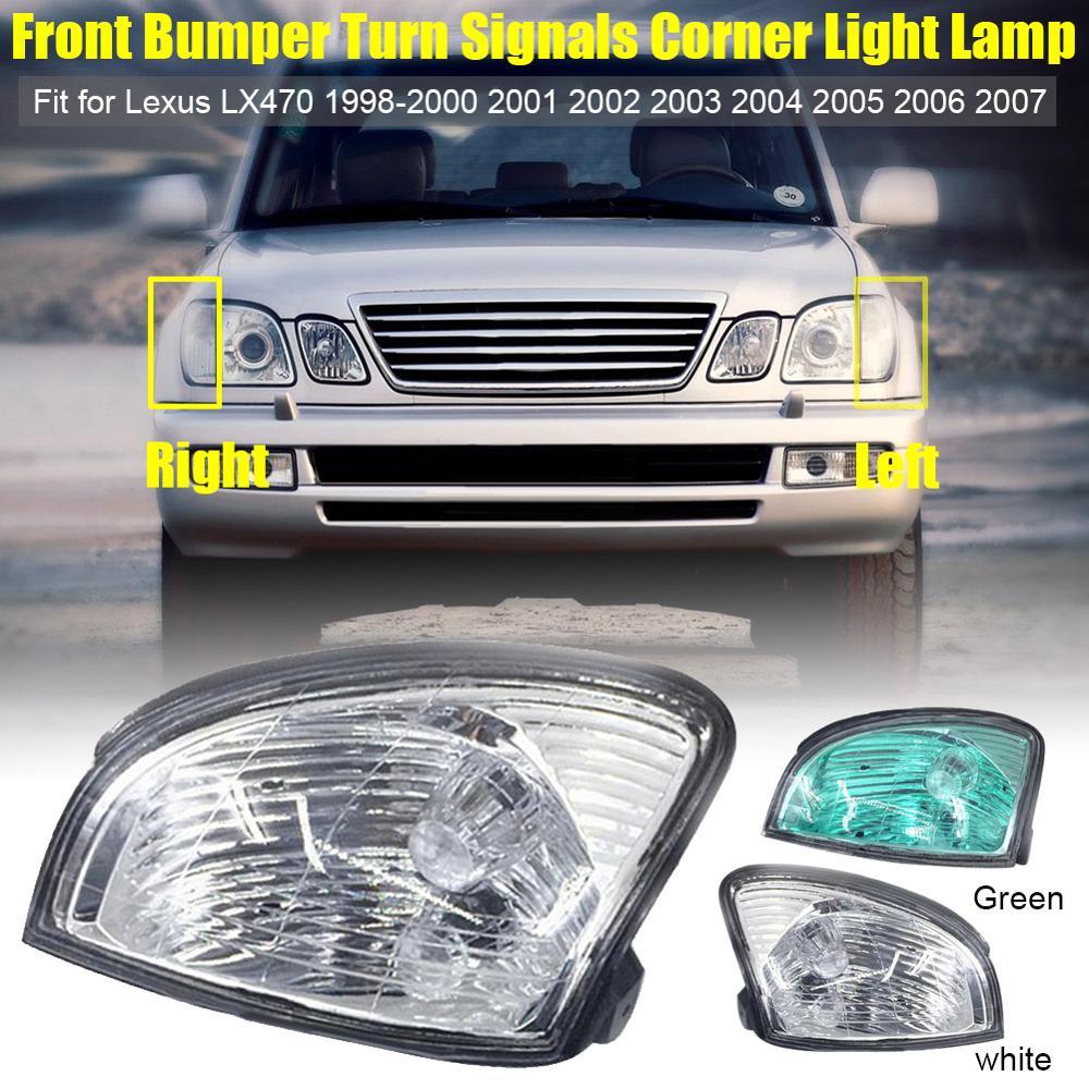 2 pçs luz de canto amortecedor dianteiro para lexus lx470 1998 1999 2000 2001 2002 2003-2007 luzes de nevoeiro do carro-estilo acessórios