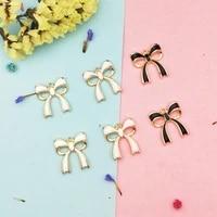 10pcs 18x20mm alloy metal bow tie enamel charms drop oil pendant for diy handmade earring necklace bracelet jewelry making yz663