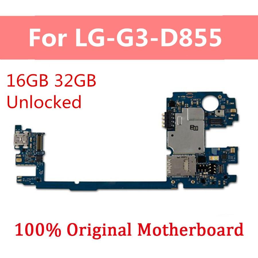 Placa base desbloqueada para LG G3 D855 D855 D852 D850 VS985 placa base original desbloqueada con placa lógica de sistema con Chips completos