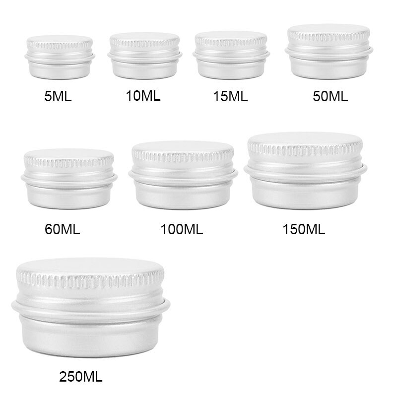 refillable bottles travel face cream lotion cosmetic container plastic empty makeup container jar pot 7 Capacities Cosmetic Jar Small Empty Refillable Bottles Aluminium Eyeshadow Makeup Face Cream Jar Pot Cosmetic Container