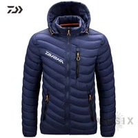 autumn winter daiwa fishing clothing thin mens hooded fishing clothes full sleeve black casual high quality zipper fishing wear