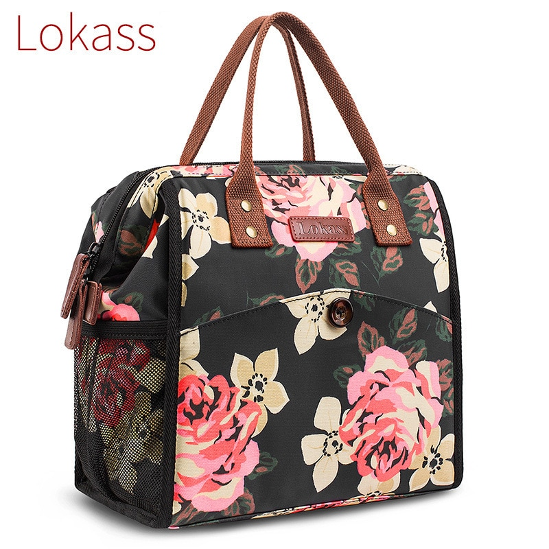 LOKASS Hot Sale high-end lunch bag travel insulation picnic portable fresh-keeping nylon waterproof ice
