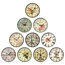24pcs/lot Round Retro Clock Pocket Watch Pattern Glass Cabochon 10mm to 25mm DIY Jewelry Making Find