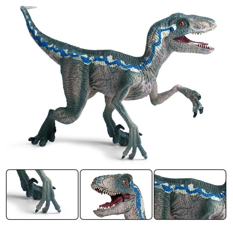 Plastic Simulation Jurassic Park Tyrannosaurus Raptor Dinosaur Model Toys Wild Animal Action Figure For Kid Boy Gift lamwin jurassic world park red imperial tyrannosaurus rex dinosaur action figure giganotosaurus seismosaurus dinosaur model toys