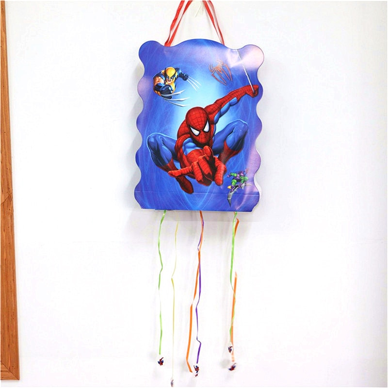 Hot Spiderman Cartoon Theme Paper Pinata Children kids Party game toys birthday Party Festival Decoration happy birthday pinata