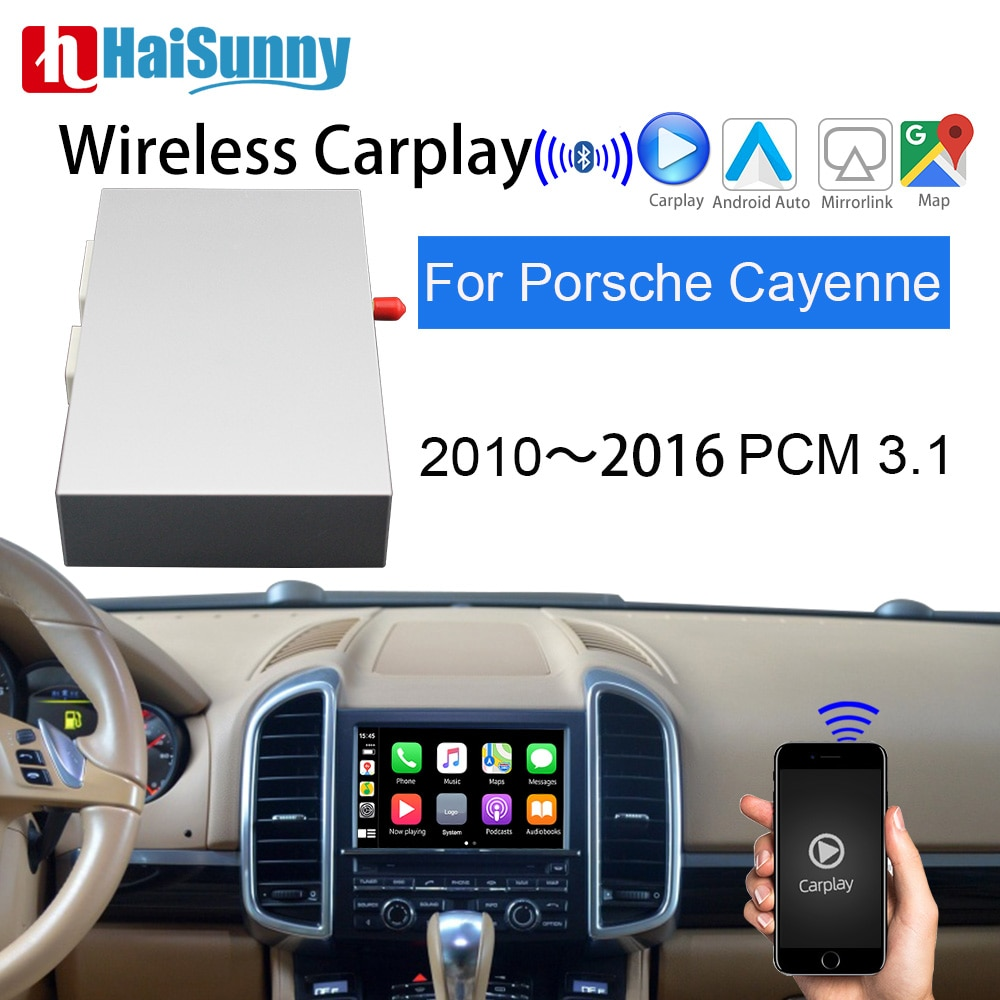 HaiSunny Sem Fio Da Apple Suporte de Atualização de Tela Original GPS MuItimedia CarPlay para Porsche Cayenne Android Carro Auto play PCM 3.1