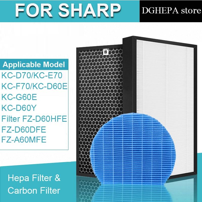 sharp air purifier filter kc a50jw kc a51r b hepa filter fz a51hfr actived carbon filter fz a51dfr filter for humidifier parts HEPA Carbon Humidification Filter FZ-D60HFE FZ-D60DFE A60M for Sharp KC-D70 KC-E70 KC-F70 KC-D60E KC-G60E KC-D60Y Air Purifier