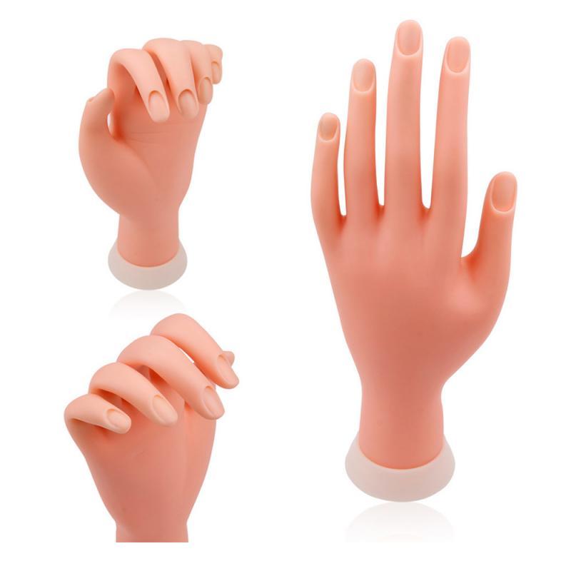 Искусственные Пальцы для нейл-арта, акриловый гель для тренировки рук, можно сгибать, искусственная ручная модель