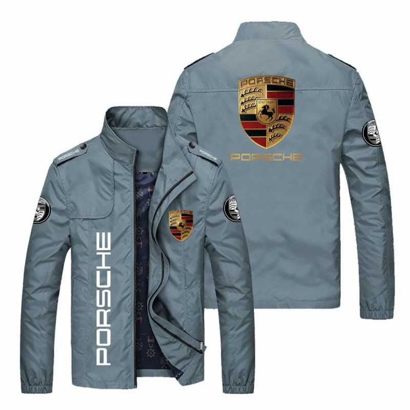 Spring and autumn fashion jacket men's car logo printing slim fit men's casual sunscreen windproof baseball zipper windbreaker l