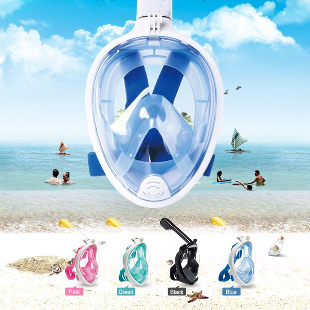 6 colors scuba diving equipment underwater anti fog diving mask full face snorkeling mask for swimming spearfishing dive Scuba Swimming Mask Full Face Anti-fog Snorkeling Diving Mask Underwater Spearfishing Mask Glasses Training Mask with fo Russia