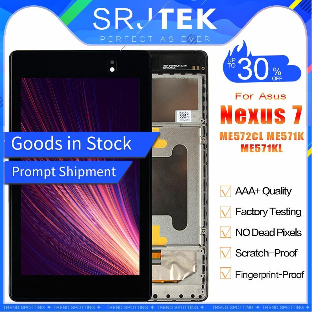 Para ASUS Google Nexus 7 segundo 2013 FHD ME571 ME571K ME571KL K008 K009 Pantalla LCD Panel de la Pantalla Táctil Digitalizador Asamblea con Marco