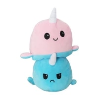 funny peluche gato kids plushie plush animals double sided flip doll cute toys for show different moods plush toy double sided
