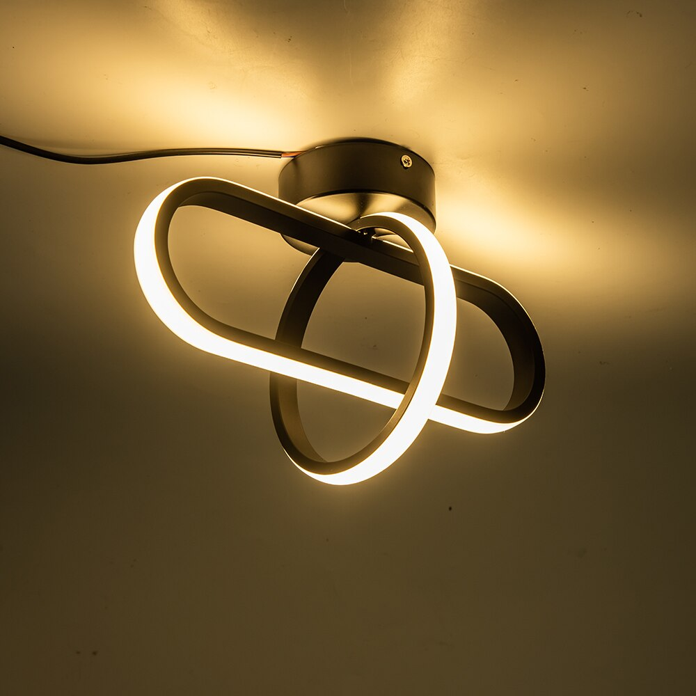 Modern Chandelier Lighting Bedroom Study Restaurant Balcony Home Decoration Lamparas Lamp Black White Led Chandeliers Ceiling