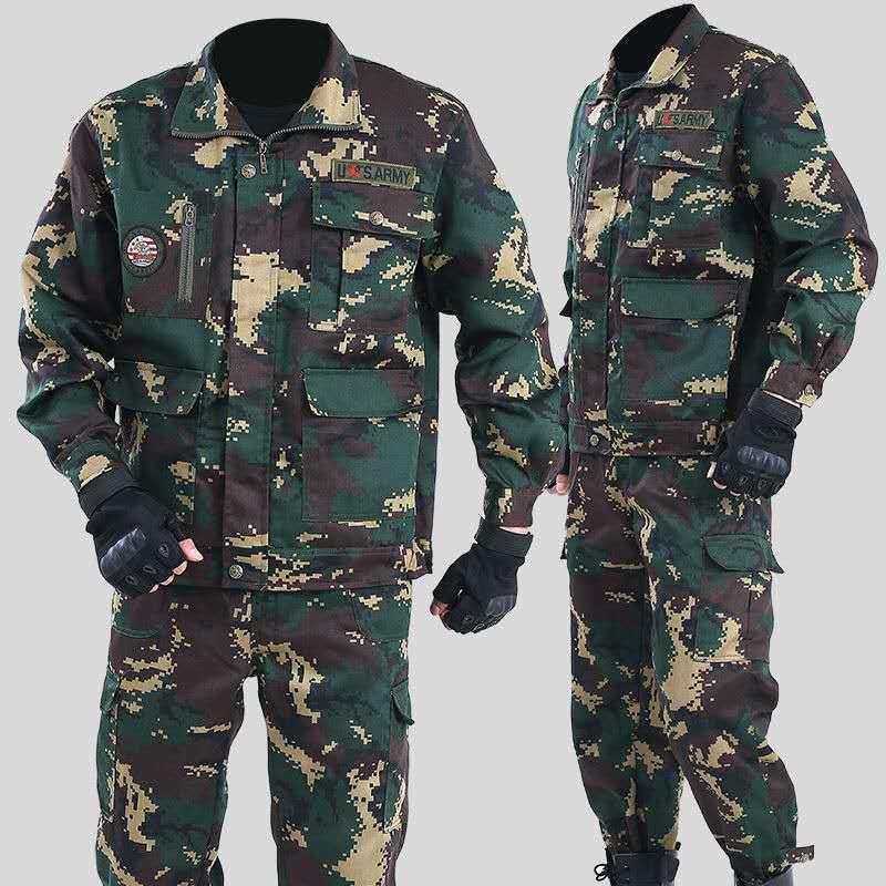 Куртка-карго Мужская тактическая, хлопок, брюки-карго, камуфляжная боевая униформа, Бомбер, мягкая уличная одежда, осень