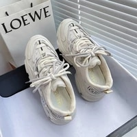 ins trendy dad shoes breathable 2021 autumn new leisure thick soled sports small white shoes womens korean style
