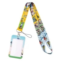 dz2466 cartoon anime lanyard for key neck strap lanyard card id badge holder key chain key holder hang rope keyrings accessories