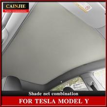 2021 New Sunshade Car Sun Visor Rear Front Sun Shade For Tesla Model Y Accessories Car Shade Net Roo