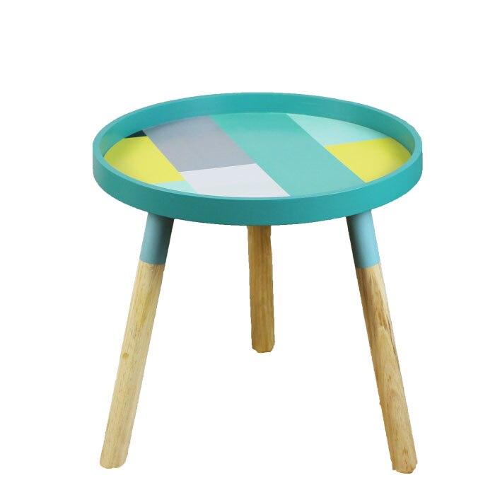 Mesa de centro de sala de estar nórdica Mini Mesa Redonda mesa de dormitorio simple Esquina de madera maciza minimalista muebles mesa de sala de estar