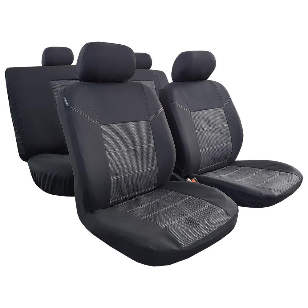 Fundas de asiento para Toyota Corolla 2010, Protector de coche para camión SUV, conjunto completo de algodón Jacquard negro, bolsa de aire segura Universal