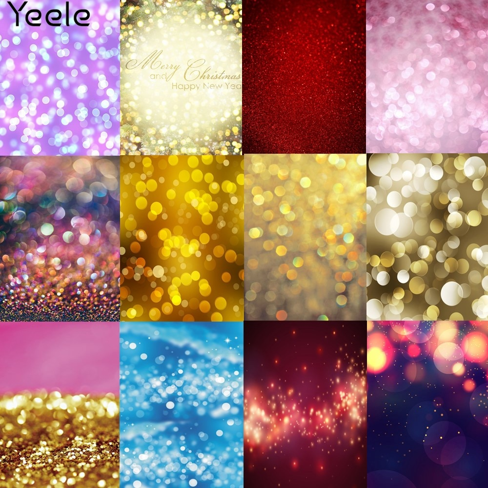 Yeele Party Decor Bokeh Lights Photocall New Year Photography Backdrops Personalized Photographic Backgrounds For Photo Studio