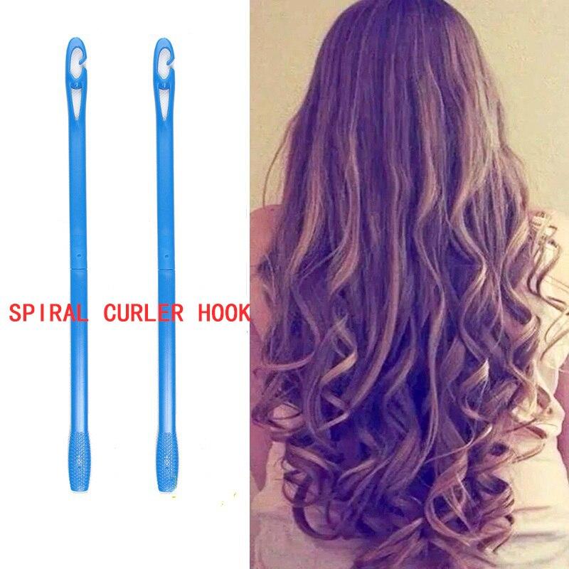 2-4 pçs espiral curler gancho rolo magia alavanca modelador de cabelo gancho diy ferramenta de estilo de cabelo espiral modelador ferramenta auxiliar