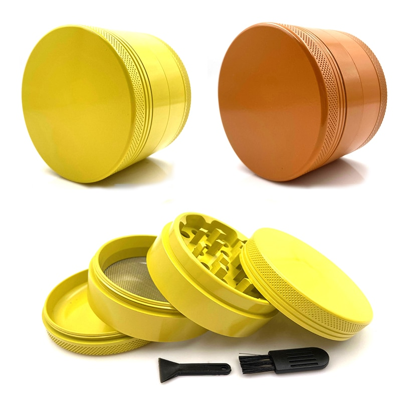 Non-Stick Tobacco Grinder Silicone Ceramic Coated 4 Layers 63mm Aluminium Alloy Herb Grinder for Smoking Weed Tobacco Crusher 4 layer tobacco grinder herb mill crusher 63mm aluminum alloy herb grinder tobacco smoke grinders men smoking accessories