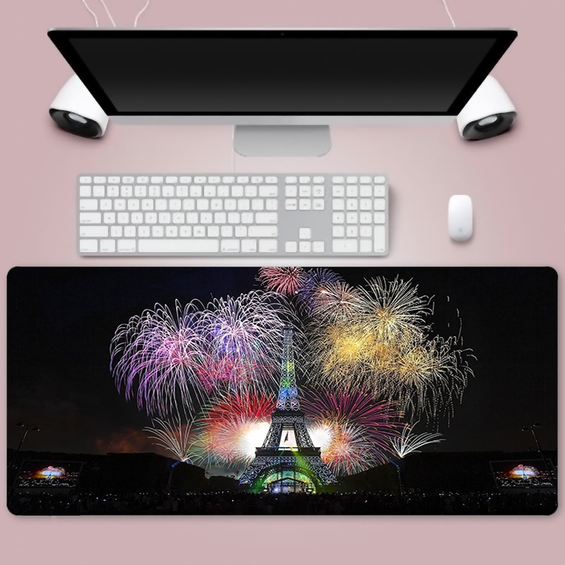 Fireworks Mouse Pad 90x40cm Anime XXL Gaming Padmouse Gamer Laptop Keyboard Mouse Mats For Playing Game enlarge