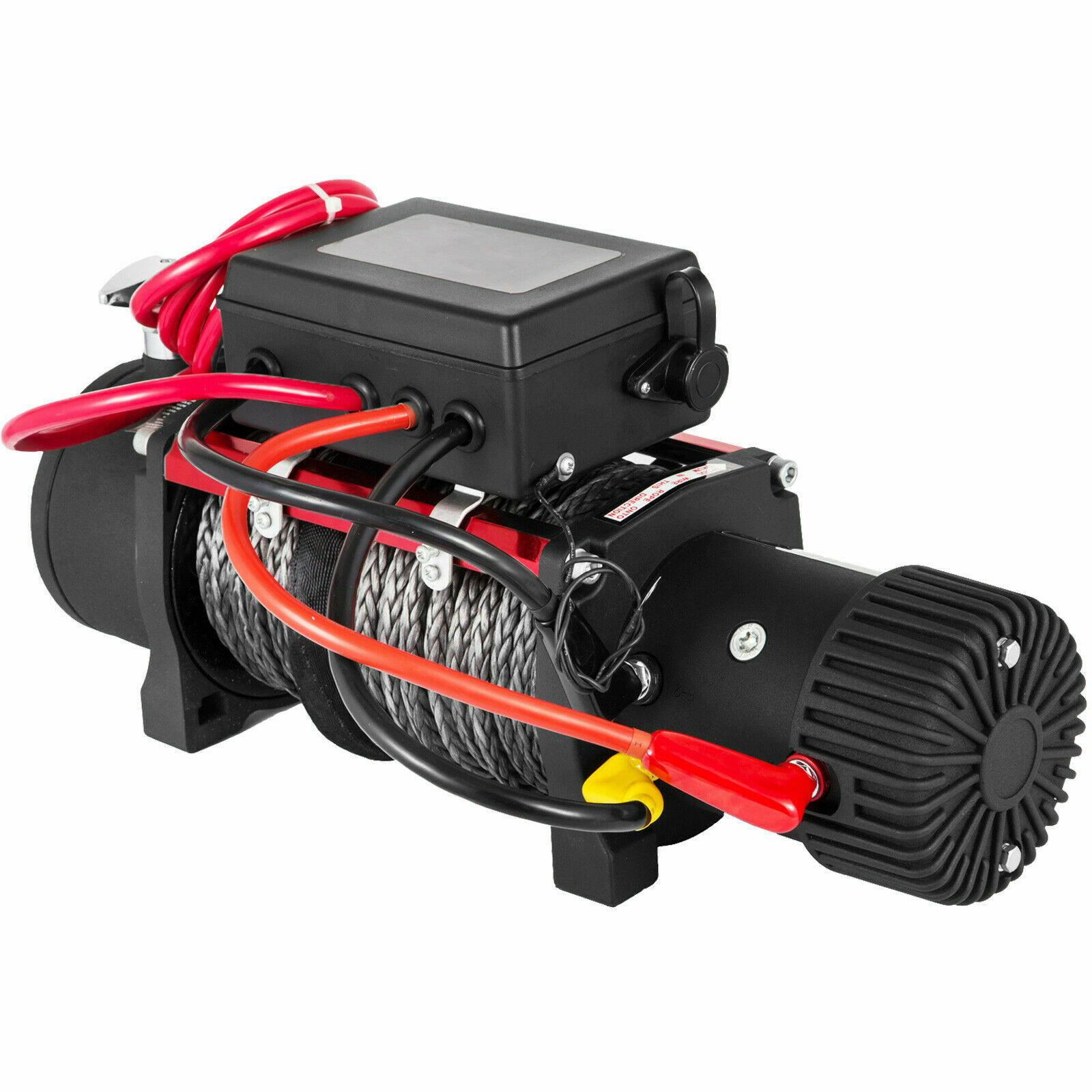 Electric Winch + 27M Synthetic Rope, 2 Wireless Control For ATV SUV Boat Truck Trailer Recovery Off Road Winch 13500LBS 12V