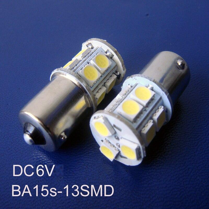 De alta calidad de 5050 DC 6V BA15s BAU15s PY21W P21W R5W R10W 1141, 1056, 1156, 5007, 5008 Bombilla Led lámpara envío gratis 100 unids/lote