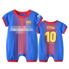Newborn Baby Football Blue NO.10 Clothes Infant Romper For Boy Girl Onesie Garcon Soccer Costume Out