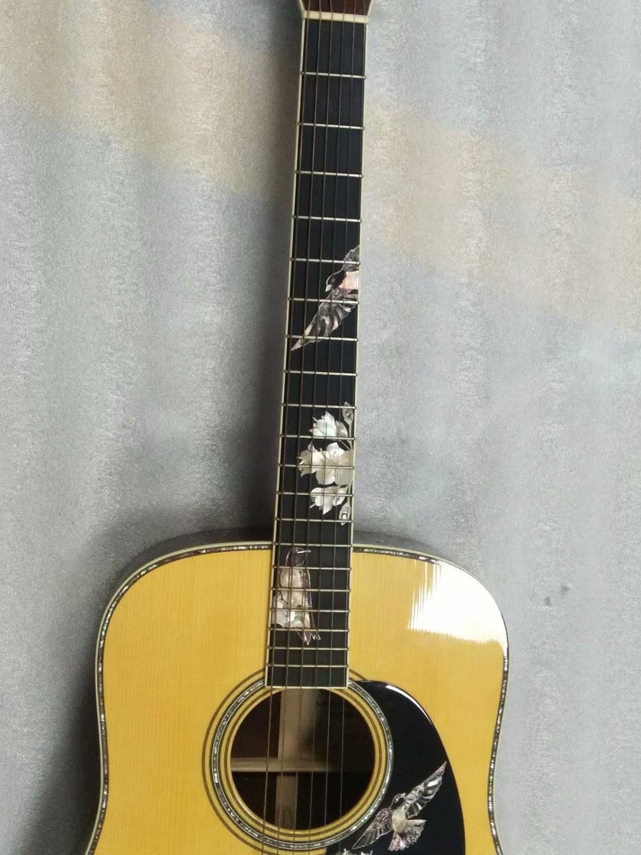¡Envío gratis! guitarra eléctrica acústica personalizada OEM hecha a mano completamente sólida dreadnought